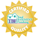 Certified Total Basement Finishing Quality