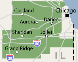 Illinois service area including greater Bartlett, Aurora, Naperville, and Joliet